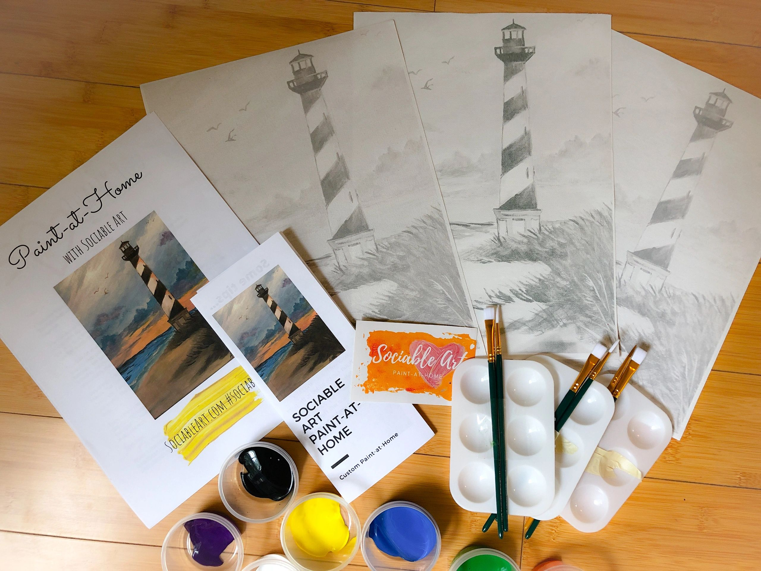Sociable Art Paint Kits And Paint Events For Families And Groups