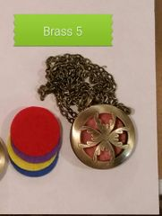 Brass 5 Aroma Therapy Diffuser Locket Necklace
