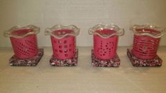 One of a Kind Small Metal Pink Adjustable Electric Burners