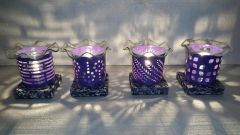 One of a Kind Small Metal Purple Adjustable Electric Burner