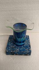 One of a Kind Blue Lava Cylinder Adjustable Electric Burner