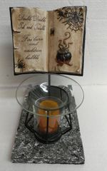 One of a Kind Small Book Halloween Adjustable Electric Burner