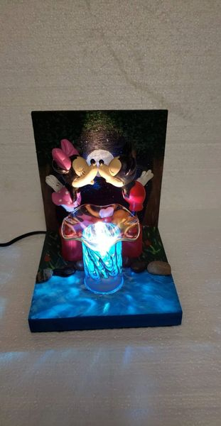 One of a Kind Mickey and Minnie Adjustable Electric Burner/Warmer