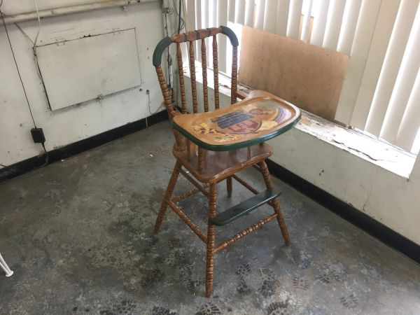 1960 S Vintage Wooden High Chair
