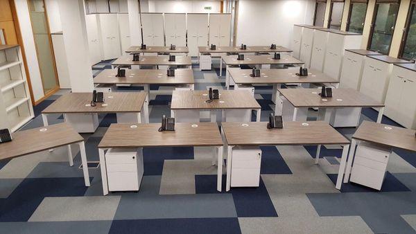 Sven Christiansen X Range-White Frames-Zebrano Tops Complete Floor Of Furniture
