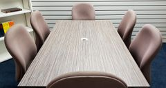 Sven Christiansen Meeting Room Set 1800 x 1000 Table With 6 Verco Chairs In Cloth Cappuccino