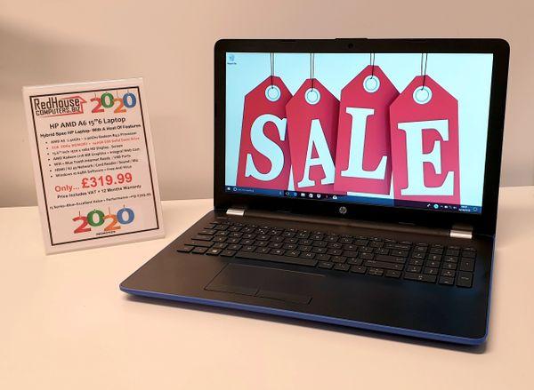 "HP AMD A6 15""6 Hybrid Laptop- 8GB RAM / 240GB SSD Laptop In Blue / Black Graphite"