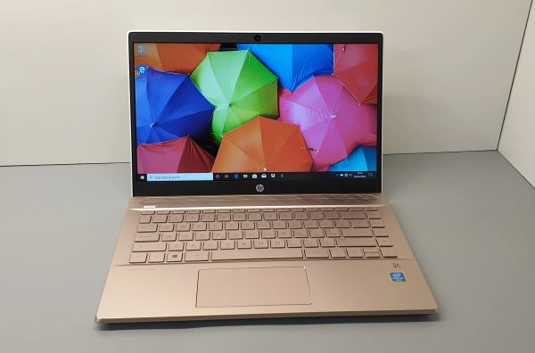 "HP Intel Pentium Gold 14""-inch Full HD Laptops 2.30GHz 4GB 128GB SSD Windows 10 - Ultra Fast -Finished In White / Rose Gold ! IN STOCK !"