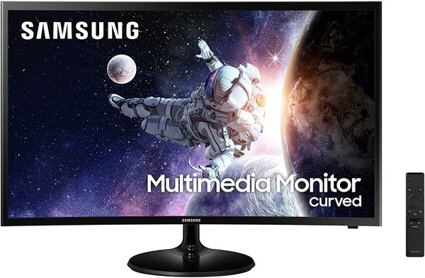 "Samsung 32"" Curved HDMI Monitor In Black"