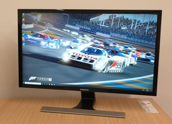 "Samsung 28""-inch 4K UHD U28E590 LCD-LED Monitor-In Black"