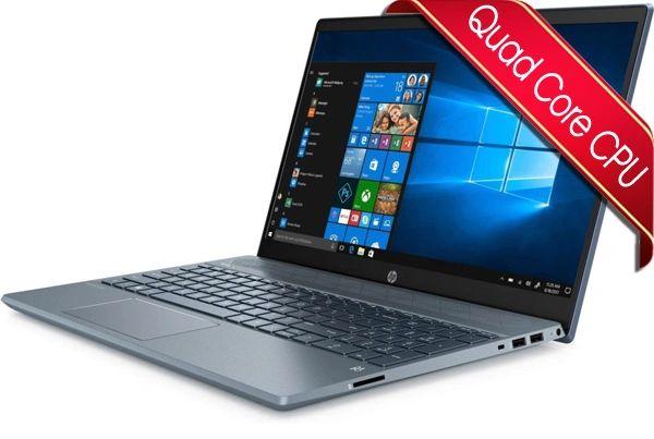"HP Blue 15.6"" Laptop - Ryzen 3 CPU - 4GB RAM - 128GB SSD"