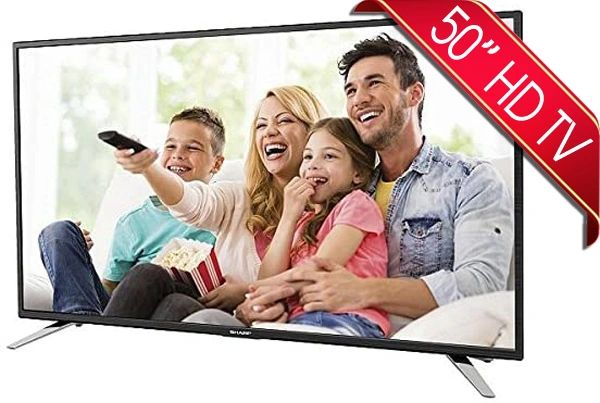 "Sharp 50"" Full HD TV With Freeview HD Built In"