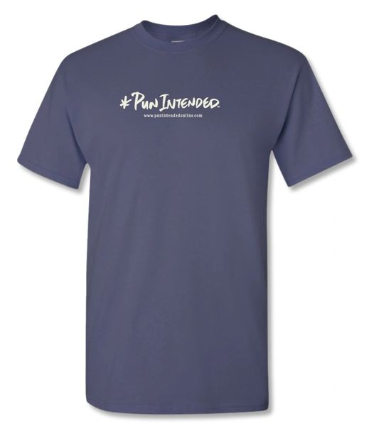 * Pun Intended Logo Lake Blue/Ivory T-shirt
