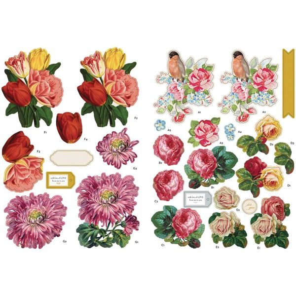 Ruby Rock It Fundamentals 3D Decoupage Pack - Floral
