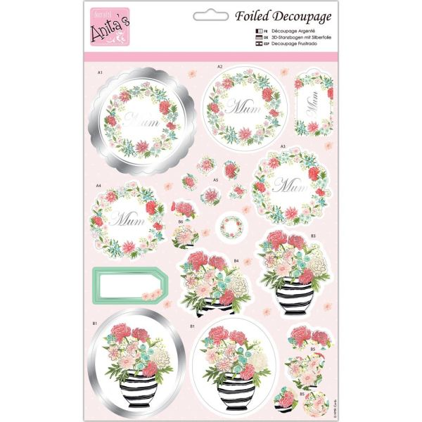 Special Mum for cards and crafts A4 Foiled Decoupage