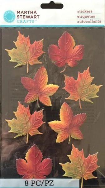 Martha Stewart Sticker Pack Autumn Leaves Scrapbooking Craft Supplies White Rose Crafts Llc