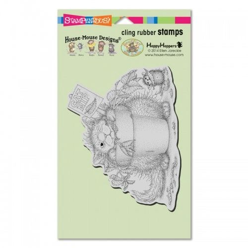 Stampendous House Mouse Cling Rubber Stamp Catnip Snack
