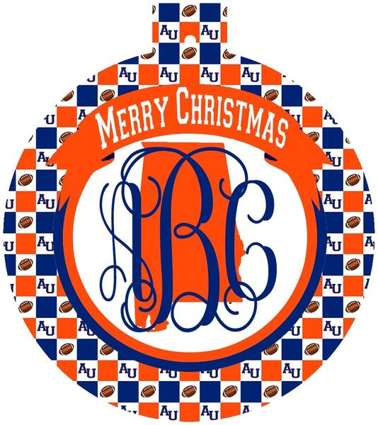 Auburn Christmas Personalized Ornament