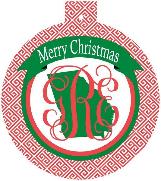 Georgia Christmas Personalized Ornament