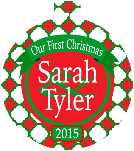 Couples Christmas Personalized Ornament