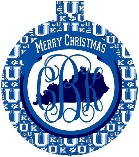 Kentucky UK Personalized Ornament