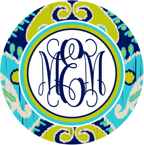 Ikat Monogrammed Mouse Pad