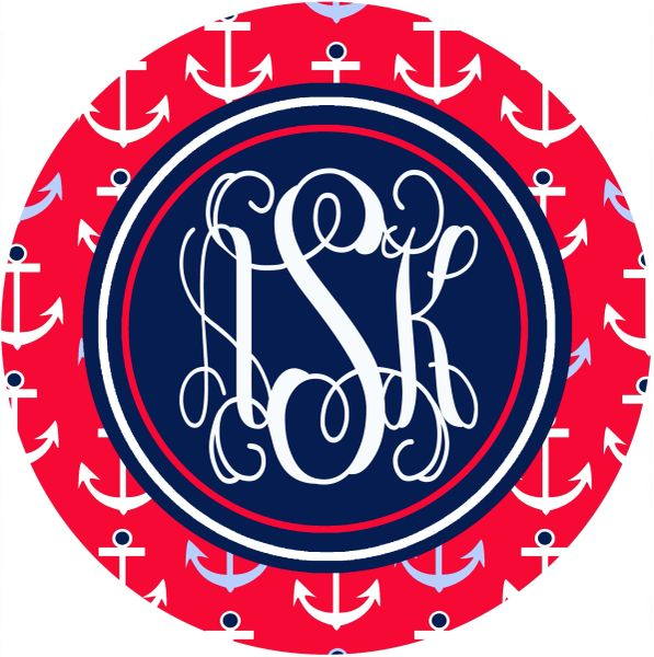 Anchors Monogrammed Mouse Pad