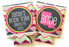Bride Tribe Tribal Print Birthday or Bachelorette Coozies
