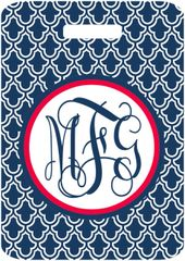 Moroccan Monogrammed Luggage Tag