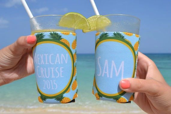 Pineapple Tropical Party Coozies