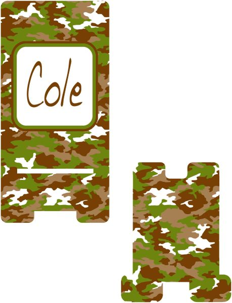 Guy's Cammo Cell Phone Stand.