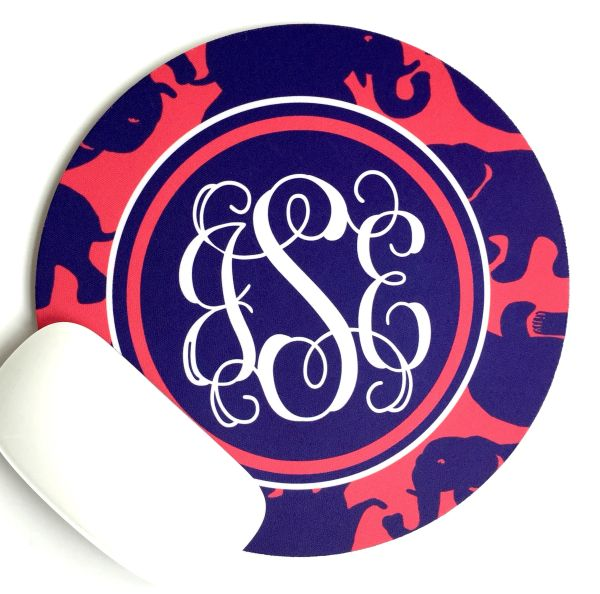 Elephant Monogrammed Mouse Pad