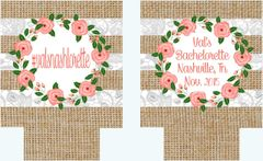 Burlap and Lace Party Coozies