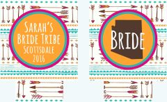 Bride Tribe Arrow Bachelorette Party Coozies
