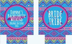 Bride Tribe Tribal Print Bachelorette Coozies