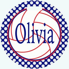 Volleyball Personalized Bag Tag