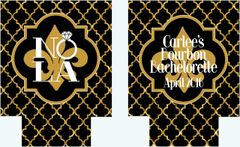 New Orleans Black and Gold Quatrefoil Huggers