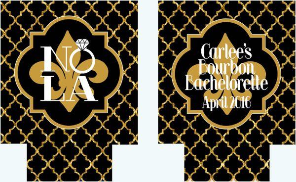 New Orleans Black and Gold Quatrefoil Huggers