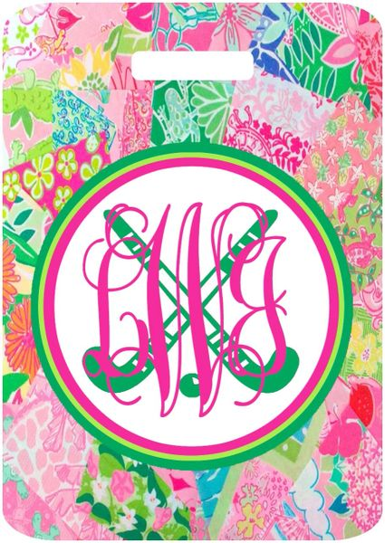 Field Hockey Lilly Patches Monogrammed Bag Tag