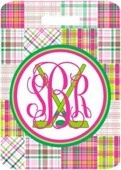 Hockey Patchwork Monogrammed Bag Tag