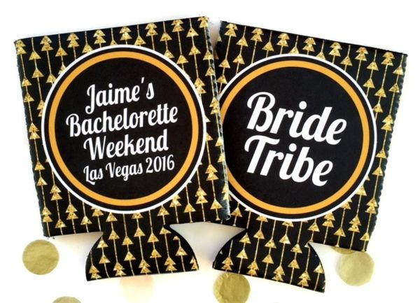 Black and Gold Tribal Arrows Party Huggers