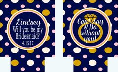 Bridesmaid Polka Dot Proposal Huggers