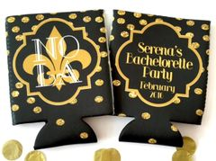 New Orleans Black and Gold Polka Dot Huggers