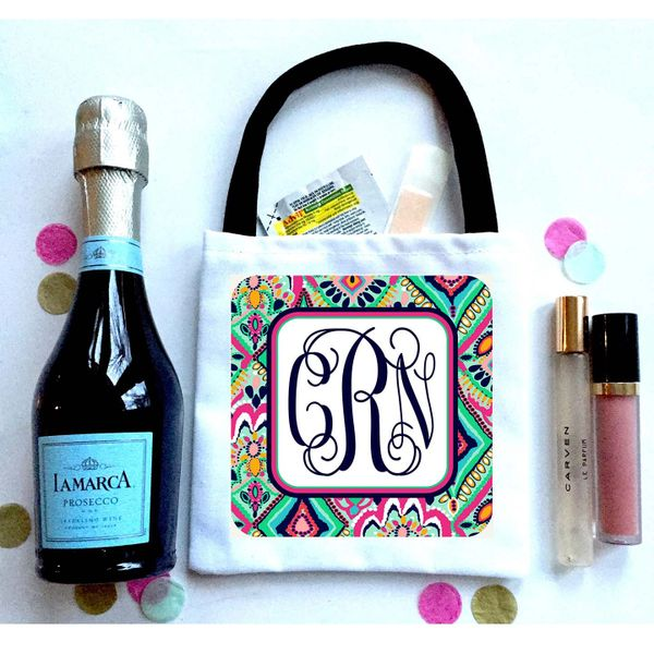 Monogram Favor Totes, Hangover recovery Bag. Oh Shit kits!