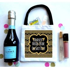 Bride Tribe Favor Totes, Hangover recovery Bag. Oh Shit kits!