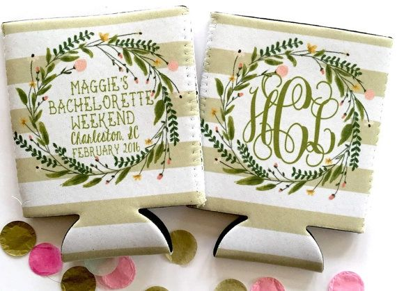 Floral Wreath Stripe Party Huggers