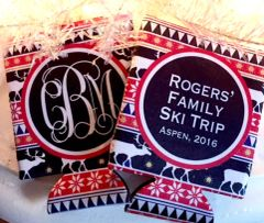 Ski Trip or Ski Party Red and Black Nordic Huggers
