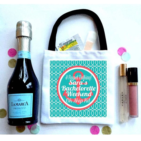 Nautical Favor Totes, Hangover Recovery Bag. Oh Shit kits!