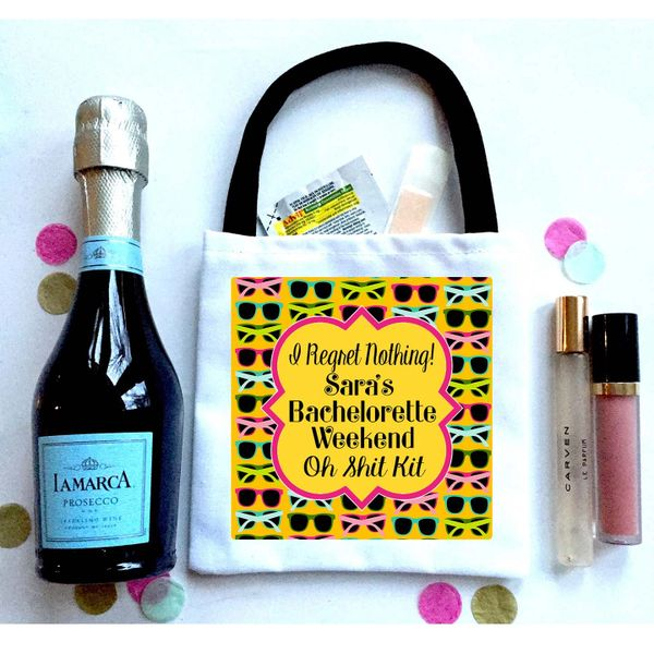 Beach Favor Totes, Hangover recovery Bag. Oh Shit kits!