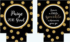 Gold Glitter Polka Dot Party Huggers